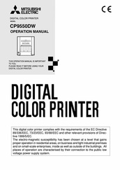 CP9550DW Printer manual for digital photo booth