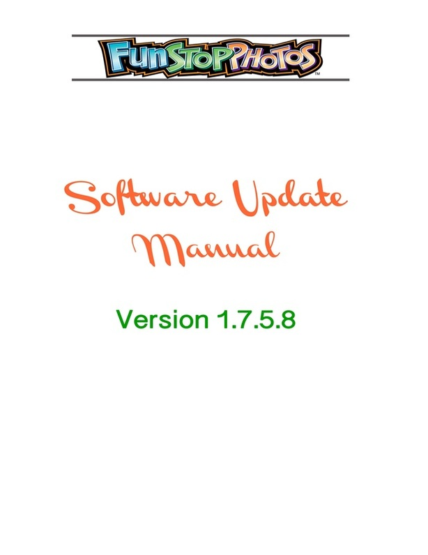 Digital photo booth manufacturer Team Play Inc - Photo Booth Software Update Manual - Cover Page