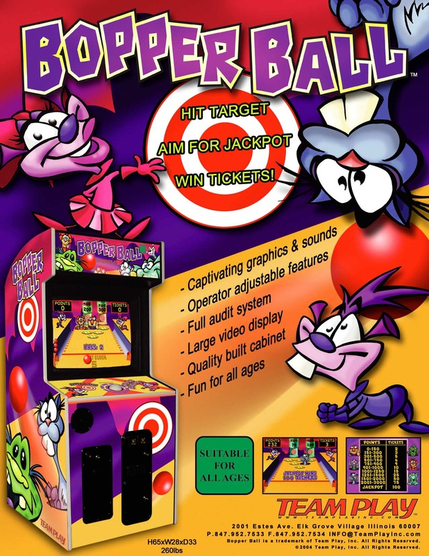 Bopper Ball redemption game by video game manufacturer Team Play Inc